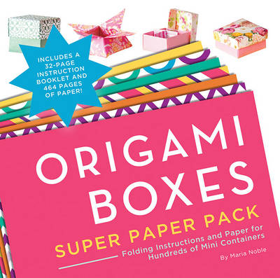 Origami Boxes Super Paper Pack (Paperback)