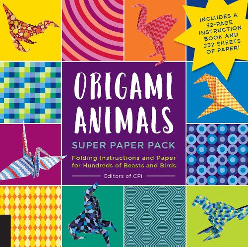 Origami Animals Super Paper Pack: Folding Instructions and Paper for Hundreds of Beasts and Birds--Includes a 32-page instruction book and 232 sheets of paper! - Origami Super Paper Pack (Paperback)