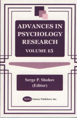 Advances in Psychology Research: Volume 15 (Hardback)