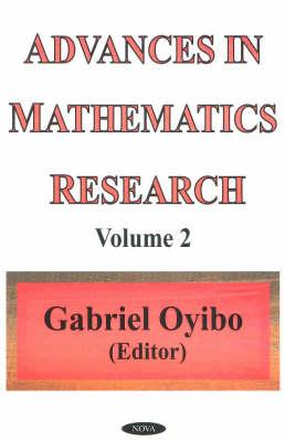 Advances in Mathematics Research: Volume 2 (Hardback)