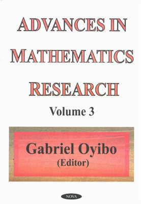 Advances in Mathematics Research: Volume 3 (Hardback)