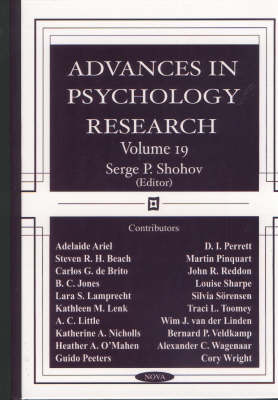 Advances in Psychology Research: Volume 19 (Hardback)