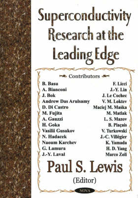 Superconductivity Research at the Leading Edge (Hardback)