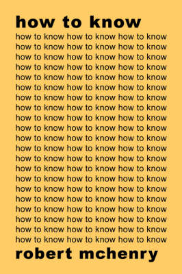 How to Know (Paperback)