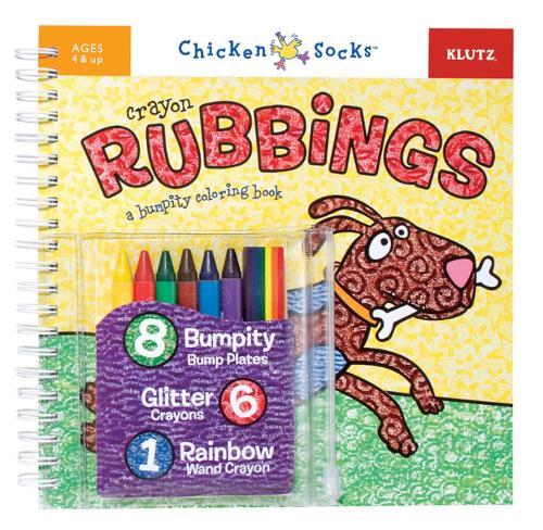 Crayon Rubbings: A bumpity colouring book - Klutz Chicken Socks