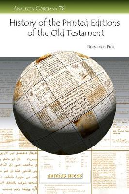 History of the Printed Editions of the Old Testament (Paperback)