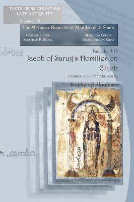 Jacob of Sarug's Homilies on Elijah (Paperback)