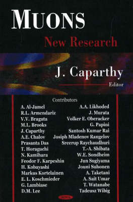 Muons: New Research (Hardback)