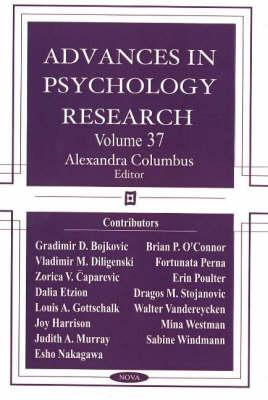 Advances in Psychology Research: Volume 37 (Hardback)