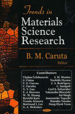 Trends in Materials Science Research (Hardback)