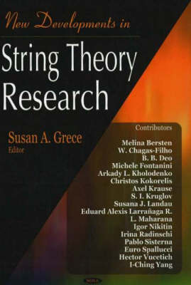 New Developments in String Theory Research (Hardback)