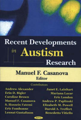 Recent Developments in Autism Research (Hardback)