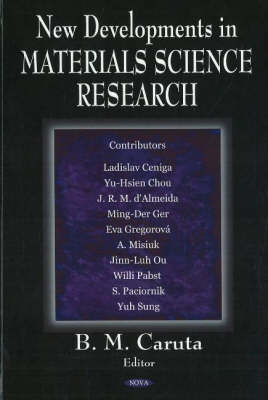 New Developments in Materials Science Research (Hardback)