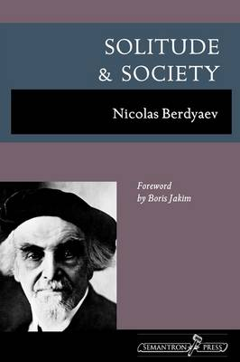 Solitude and Society (Paperback)