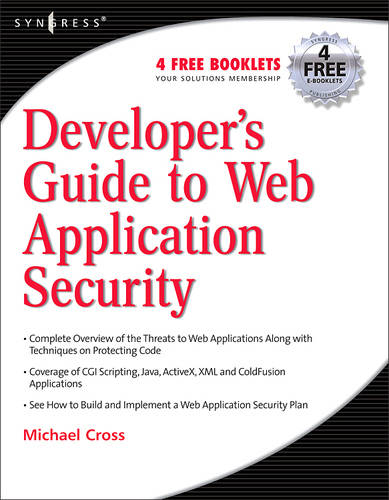 Developer's Guide to Web Application Security (Paperback)
