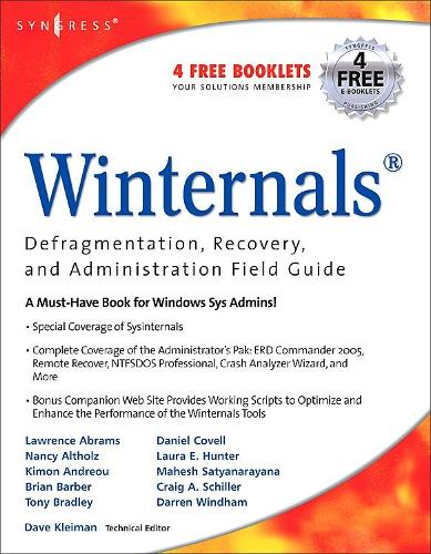 Winternals Defragmentation, Recovery, and Administration Field Guide (Paperback)