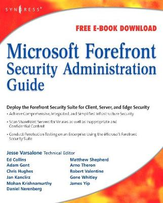Microsoft Forefront Security Administration Guide (Paperback)