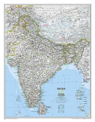 India Classic, Tubed: Wall Maps Countries & Regions (Sheet map, rolled)