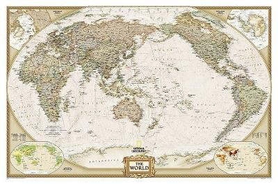 World Executive, Pacific Centered, Tubed: Wall Maps World (Sheet map, rolled)