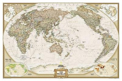 World Executive, Pacific Centered, Laminated: Wall Maps World (Sheet map)