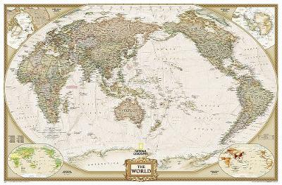World Executive, Pacific Centered, Enlarged & Tubed: Wall Maps World (Sheet map, rolled)