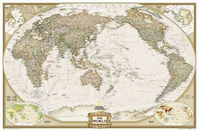 World Executive, Pacific Centered, Enlarged &, Laminated: Wall Maps World (Sheet map)