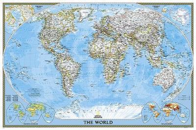 World Classic, Poster Size, Laminated: Wall Maps World (Sheet map)