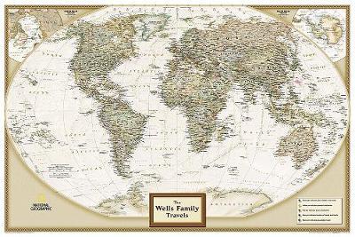 Personalized Map - World Executive: Wall Maps World (Sheet map)
