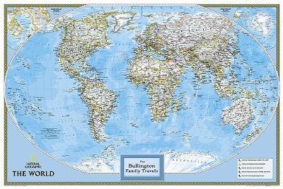 Personalized Map - World Classic: Wall Maps World (Sheet map)