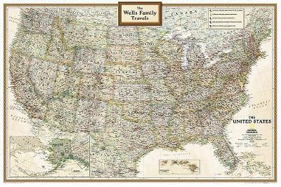 Personalized Map - USA Executive: Wall Maps U.S. (Sheet map)