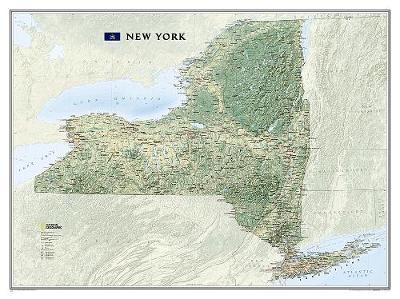 New York Flat: Wall Maps U.S. (Sheet map)