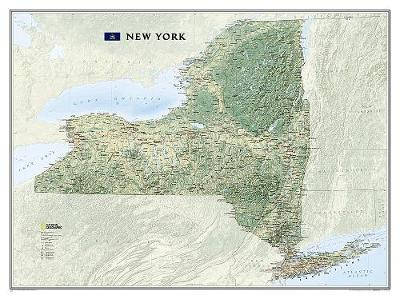 New York, Tubed: Wall Maps U.S. (Sheet map, rolled)
