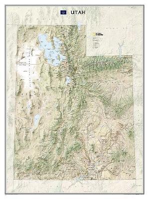 Utah, Laminated: Wall Maps U.S. (Sheet map)