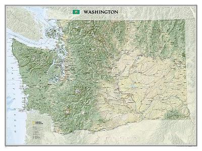 Washington, Laminated: Wall Maps U.S. (Sheet map)