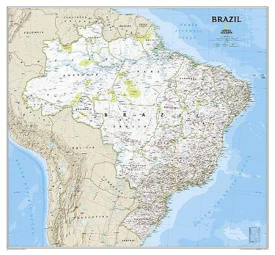Brazil Classic, Laminated: Wall Maps Countries & Regions (Sheet map)