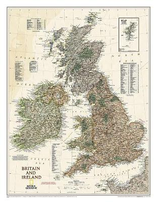 Britain And Ireland Executive Laminated Map: Wall Maps Countries & Regions (Sheet map)