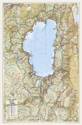 Lake Tahoe Basin,laminated: Wall Maps U.S. (Sheet map)