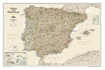 Spain & Portugal Executive, Laminated: Wall Maps Countries & Regions (Sheet map)
