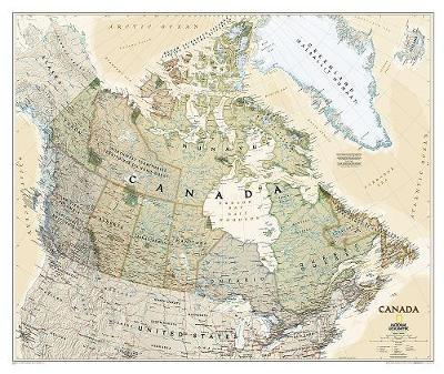 Canada Executive, Laminated: Wall Maps Countries & Regions (Sheet map)