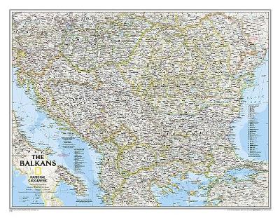 The Balkans Classic, Tubed: Wall Maps Countries & Regions (Sheet map, rolled)