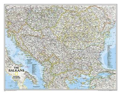 The Balkans Classic, Laminated: Wall Maps Countries & Regions (Sheet map)