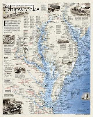Shipwrecks Of The Delmarva, Laminated: Wall Maps History & Nature (Sheet map)