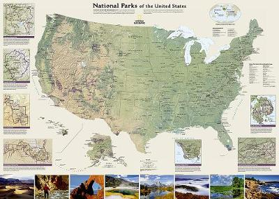 United States National Parks, Laminated: Wall Maps History & Nature (Sheet map)