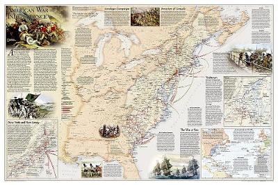 Battles of the Revolutionary War and War of 1812 Flat: Wall Maps History & Nature (Sheet map)