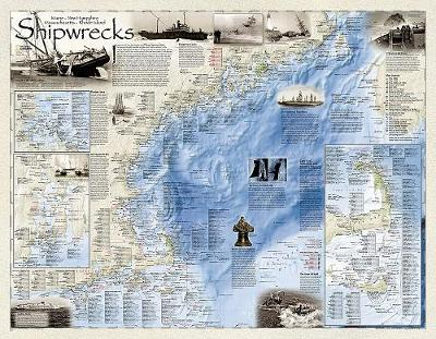 Shipwrecks Of The Northeast, Tubed: Wall Maps History & Nature (Sheet map, rolled)
