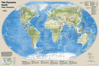 The Dynamic Earth, Plate Tectonics, Laminated: Wall Maps World (Sheet map)
