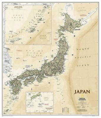 Japan Executive Flat: Wall Maps Countries & Regions (Sheet map)