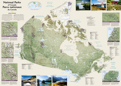 Map Of Canada Today.Canada National Parks Laminated By National Geographic Maps Waterstones