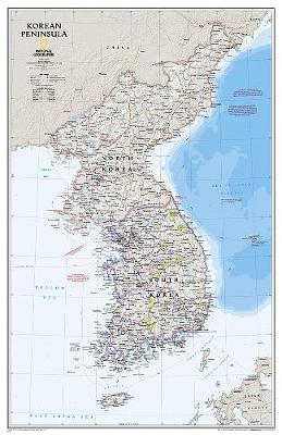 Korean Peninsula, Laminated: Wall Maps Countries & Regions (Sheet map)