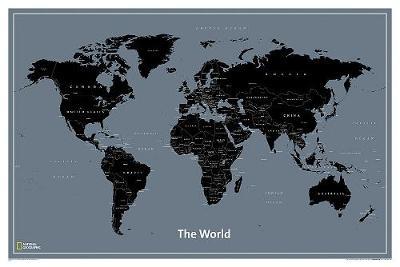 World Modern Map, Laminated: Wall Maps World (Sheet map)